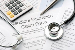 Close up of a medical insurance form